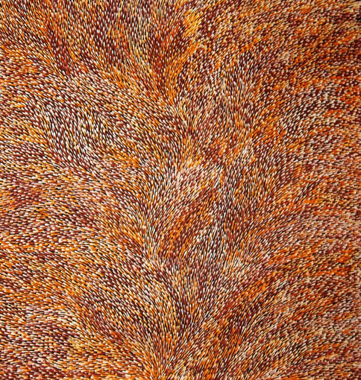 Lynette Corby Nungurrayi Tree Roots Australian Aboriginal Art Painting on canvas LC1671