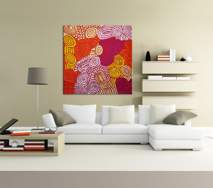 Women's RockHoles Debra Young Nakamarra Australian Aboriginal Artwork on canvas DY1777