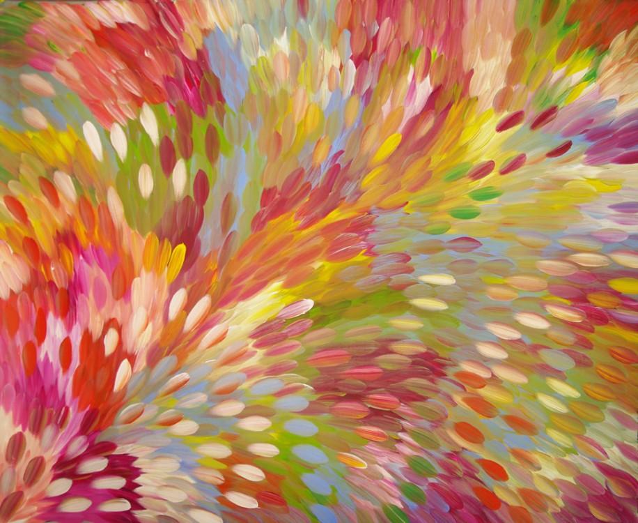 Gloria Petyarre Bush Medicine Leaves Australian Aboriginal Art Painting on canvas GP1725