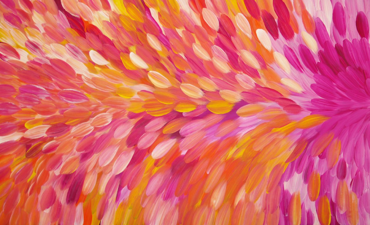 Gloria Petyarre Bush Medicine Leaves Australian Aboriginal Art Painting on canvas GP1773