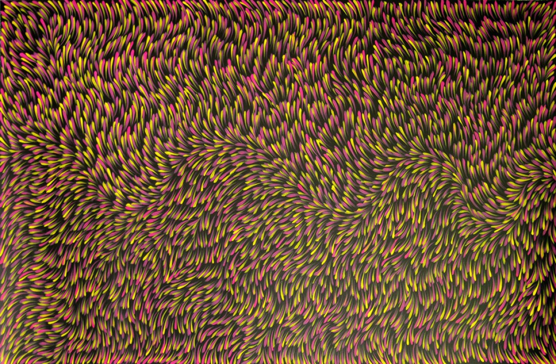 Gloria Petyarre Bush Medicine Leaves Australian Aboriginal Art Painting on canvas GP1780