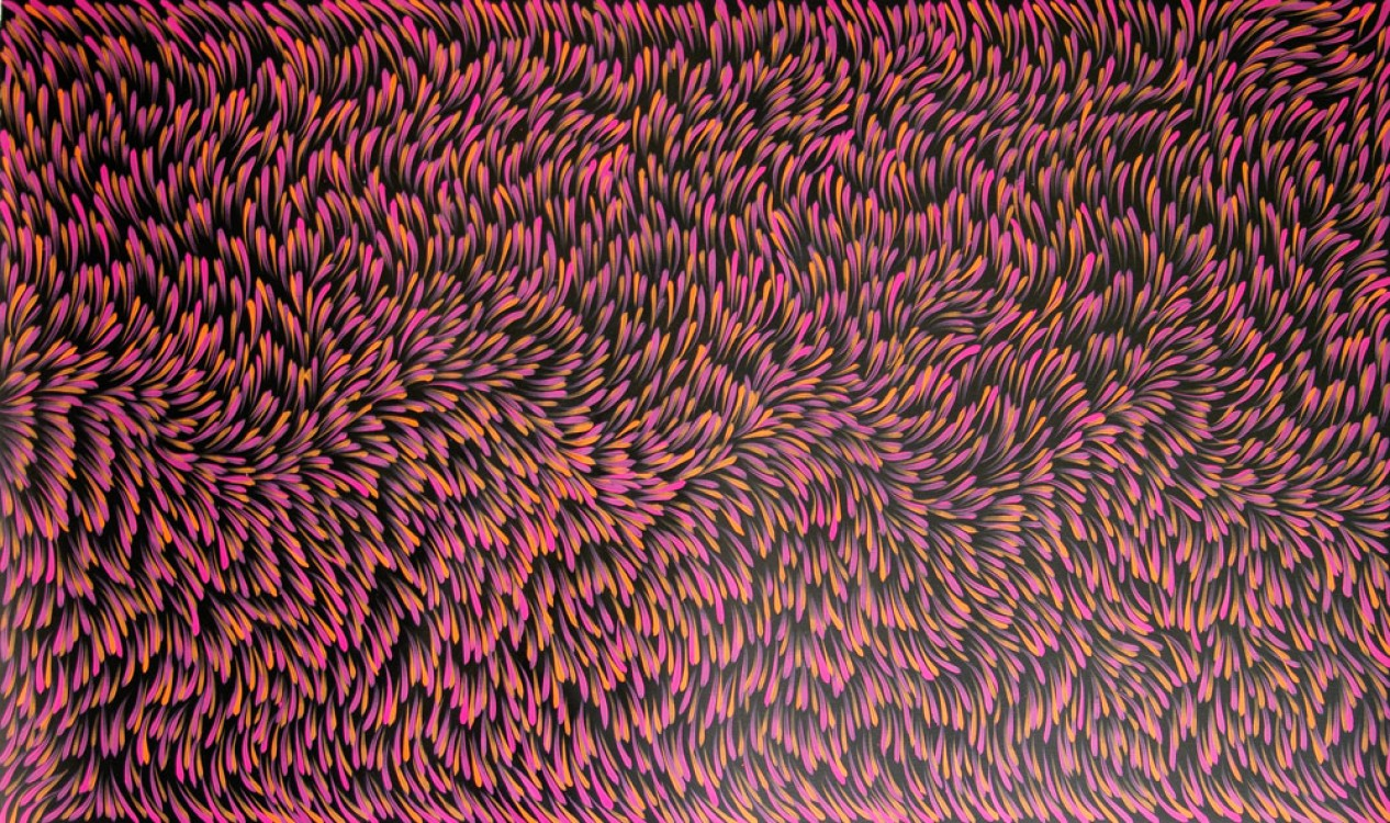 Gloria Petyarre Bush Medicine Leaves Australian Aboriginal Art Painting on canvas GP1784