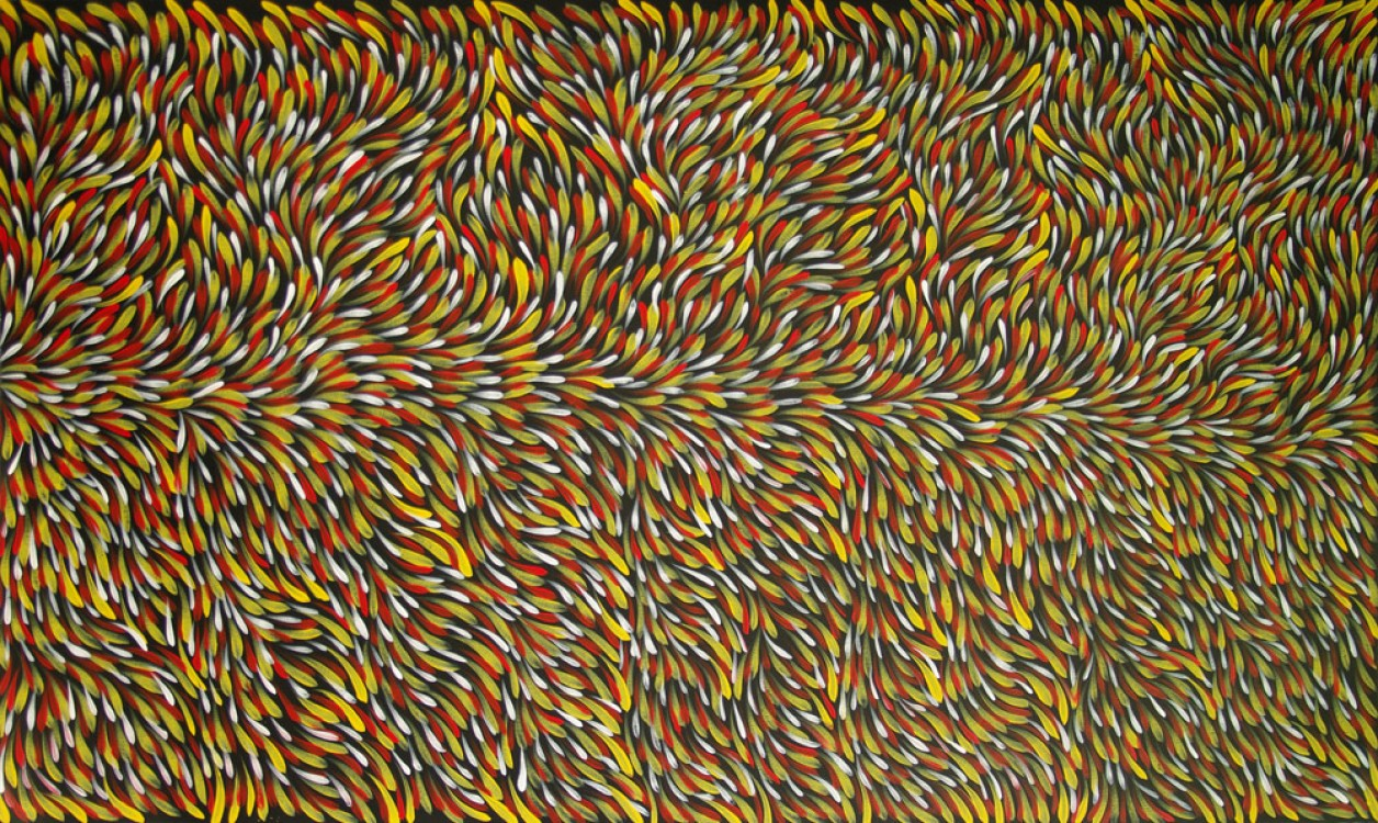 Gloria Petyarre Bush Medicine Leaves Australian Aboriginal Art Painting on canvas GP1786