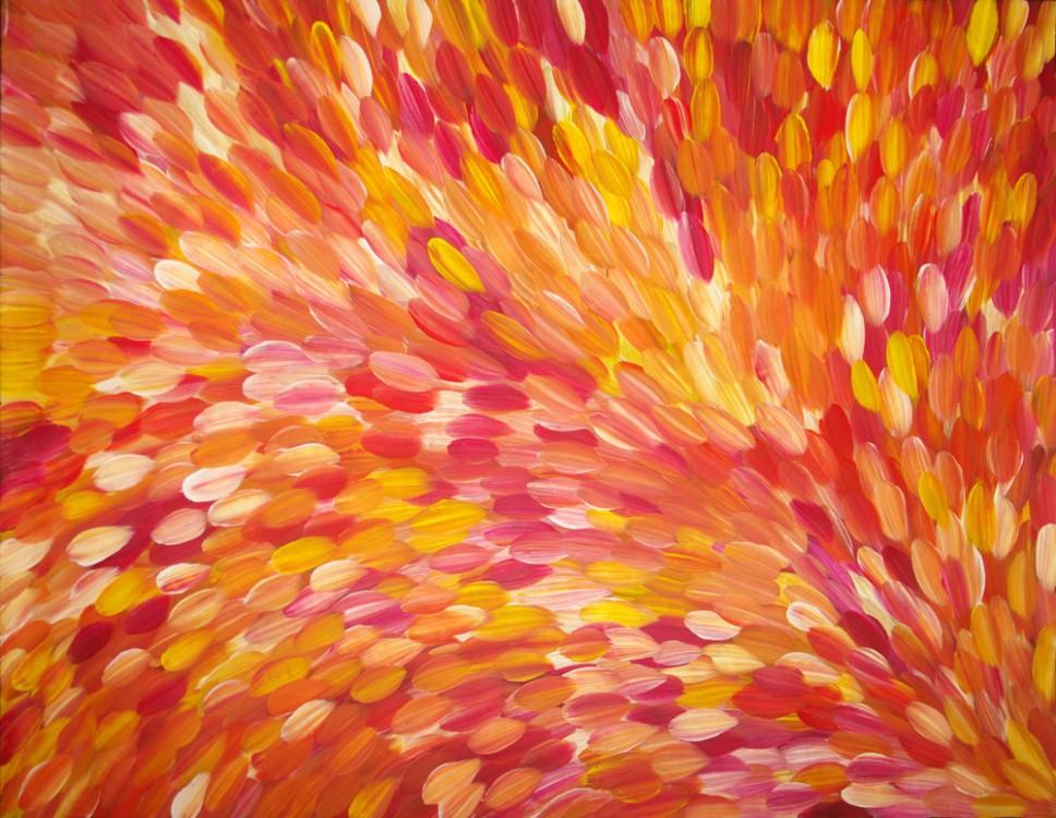 Gloria Petyarre Bush Medicine Leaves Australian Aboriginal Art Painting on canvas GP1790