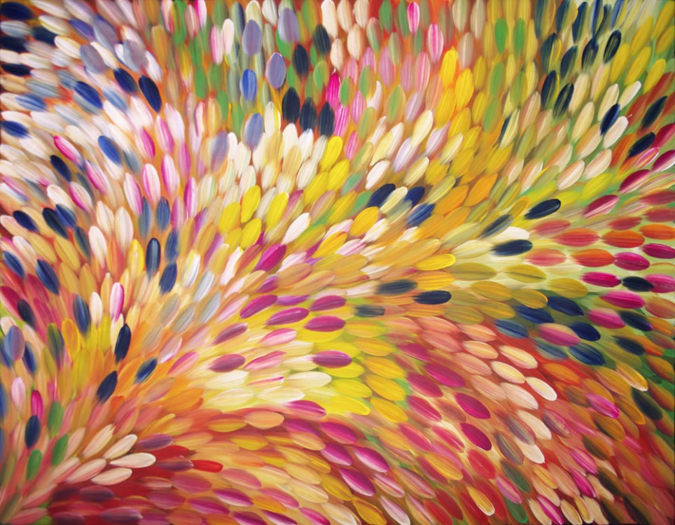 Gloria Petyarre Bush Medicine Leaves Australian Aboriginal Art Painting on canvas GP1792