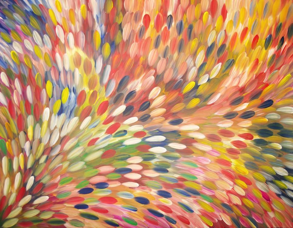 Gloria Petyarre Bush Medicine Leaves Australian Aboriginal Art Painting on canvas GP1793