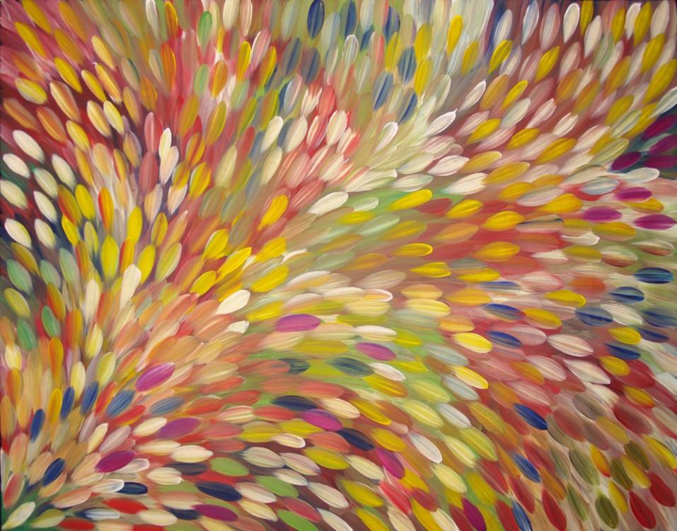 Gloria Petyarre Bush Medicine Leaves Australian Aboriginal Art Painting on canvas GP1794