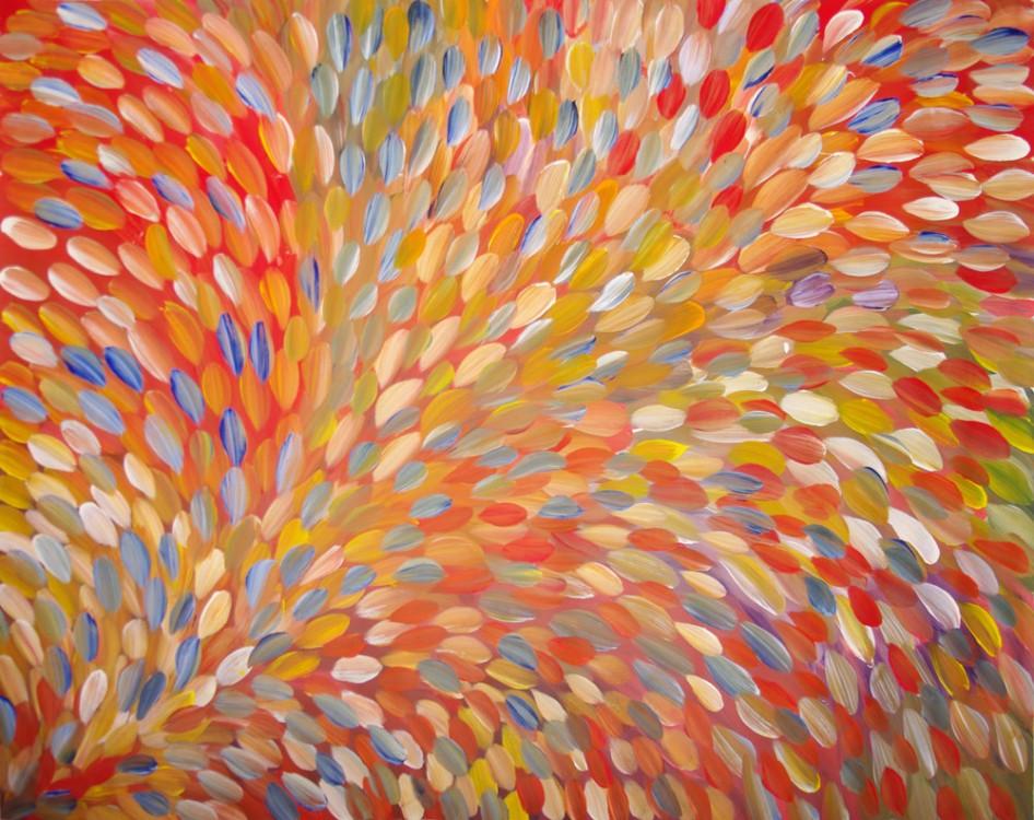 Gloria Petyarre Bush Medicine Leaves Australian Aboriginal Art Painting on canvas GP1798