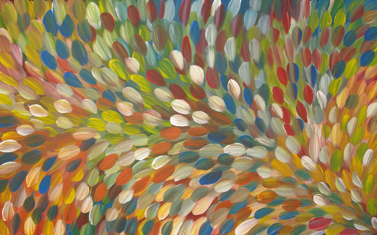 Gloria Petyarre Bush Medicine Leaves Australian Aboriginal Art Painting on canvas GP1832