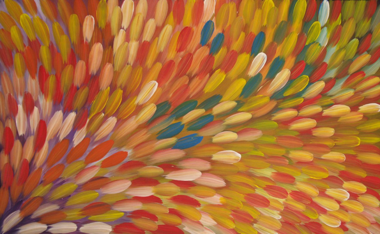 Gloria Petyarre Bush Medicine Leaves Australian Aboriginal Art Painting on canvas GP1836