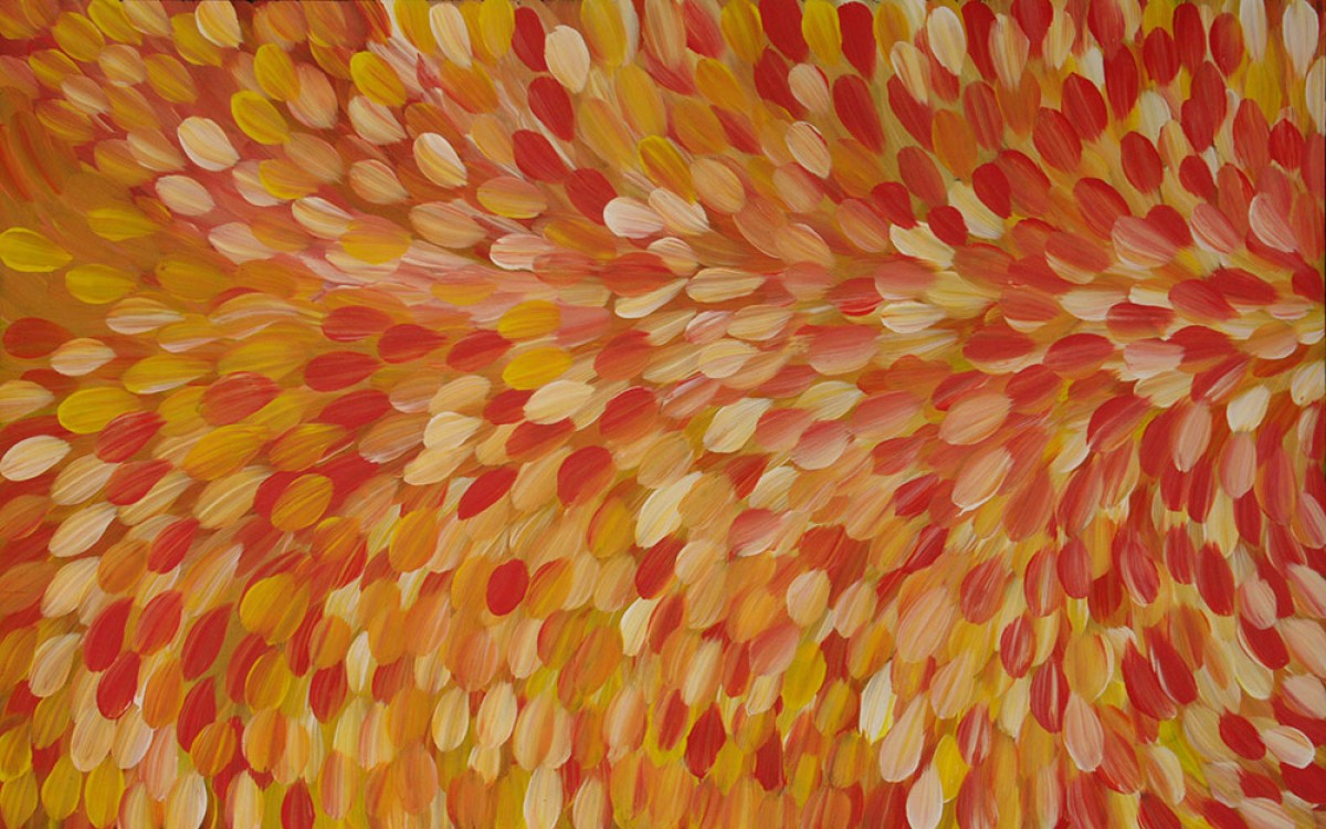 Gloria Petyarre Bush Medicine Leaves Australian Aboriginal Art Painting on canvas GP1842