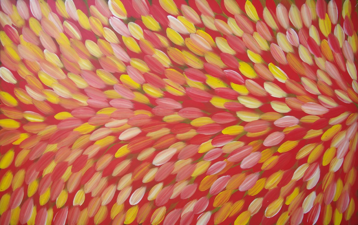 Gloria Petyarre Bush Medicine Leaves Australian Aboriginal Art Painting on canvas GP1854