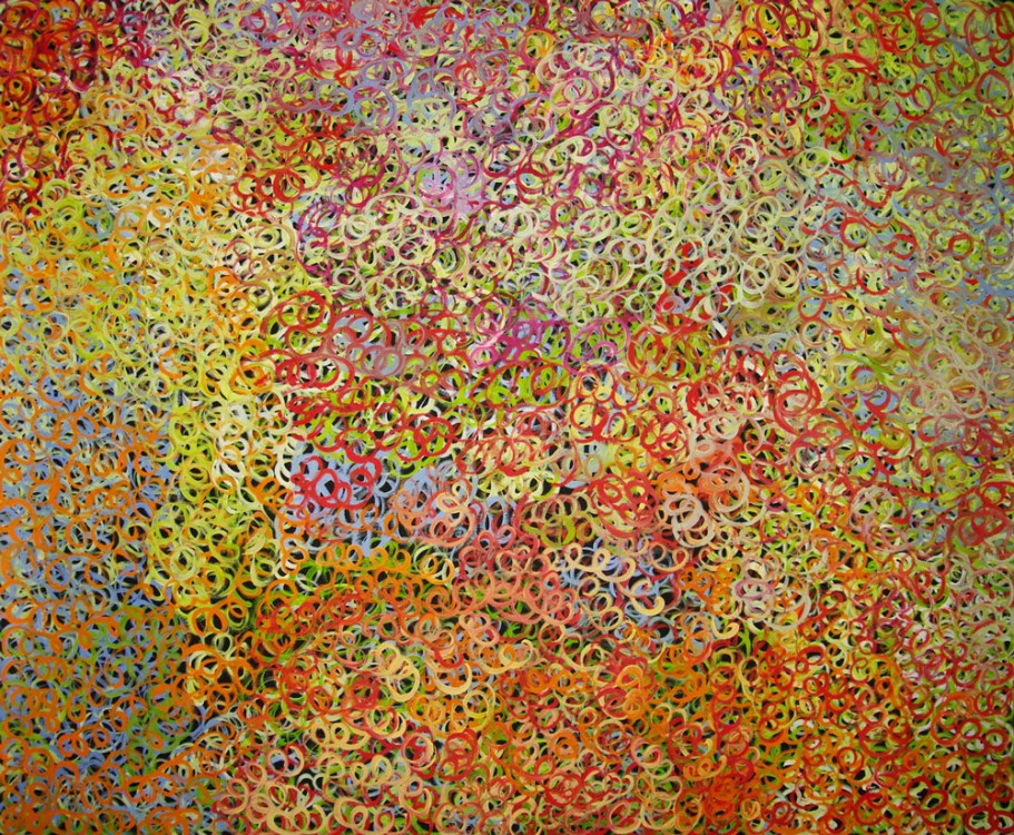 Gloria Petyarre Mountain Devil Lizard Australian Aboriginal Art Painting on canvas GP1726