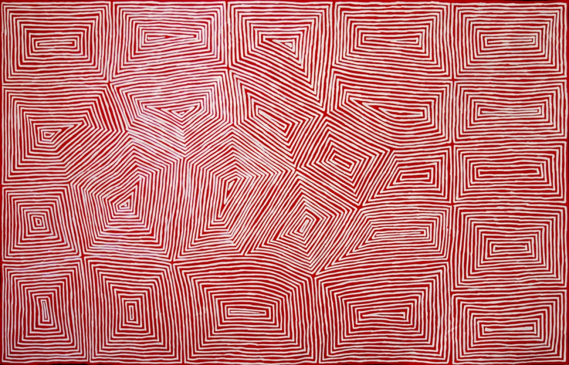 Jake Tjapaltjarri Tingari Cycle Australian Aboriginal Art Painting on canvas JT1740