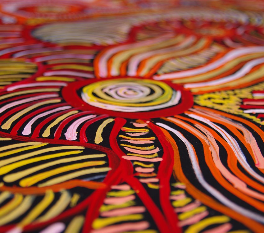 Aboriginal Artwork on canvas by Patricia Baker Tunkin Minma Marlilu Tjukurrpa KB1746