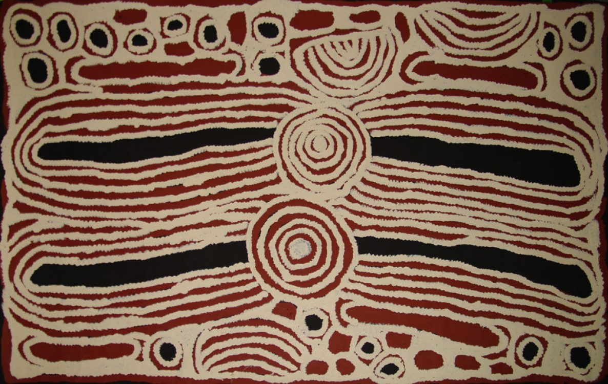Ningura Napurrula Women's Ceremony Australian Aboriginal Art Painting on canvas NN1723