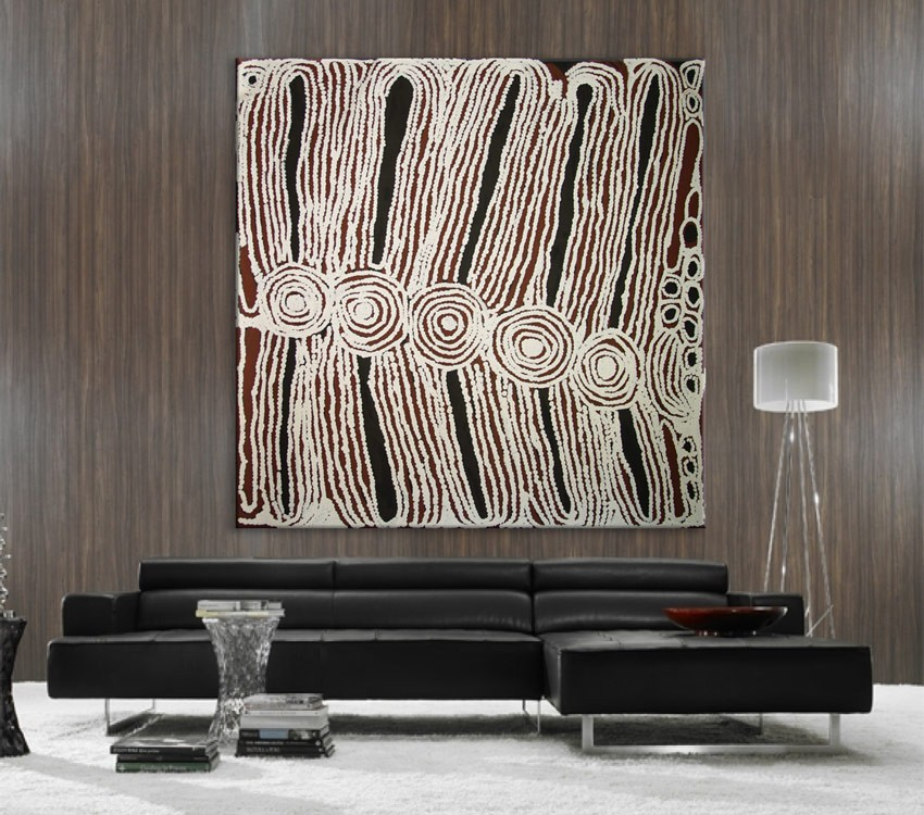Women's Ceremony Ningura Napurrula Australian Aboriginal Artwork on canvas NN1756