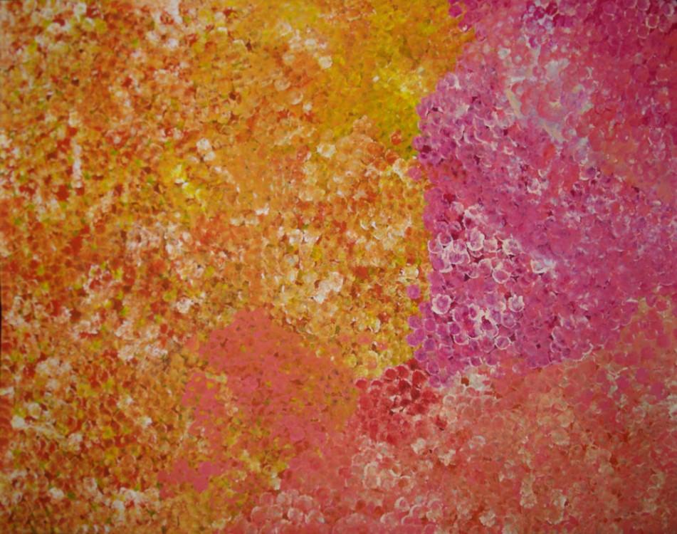 Polly Ngale Bush Plum Dreaming Australian Aboriginal Art Painting on canvas PN1762