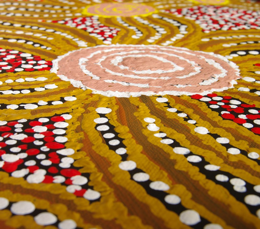 Aboriginal Artwork on canvas by Wipana Jimmy Fire Dreaming WJ1775
