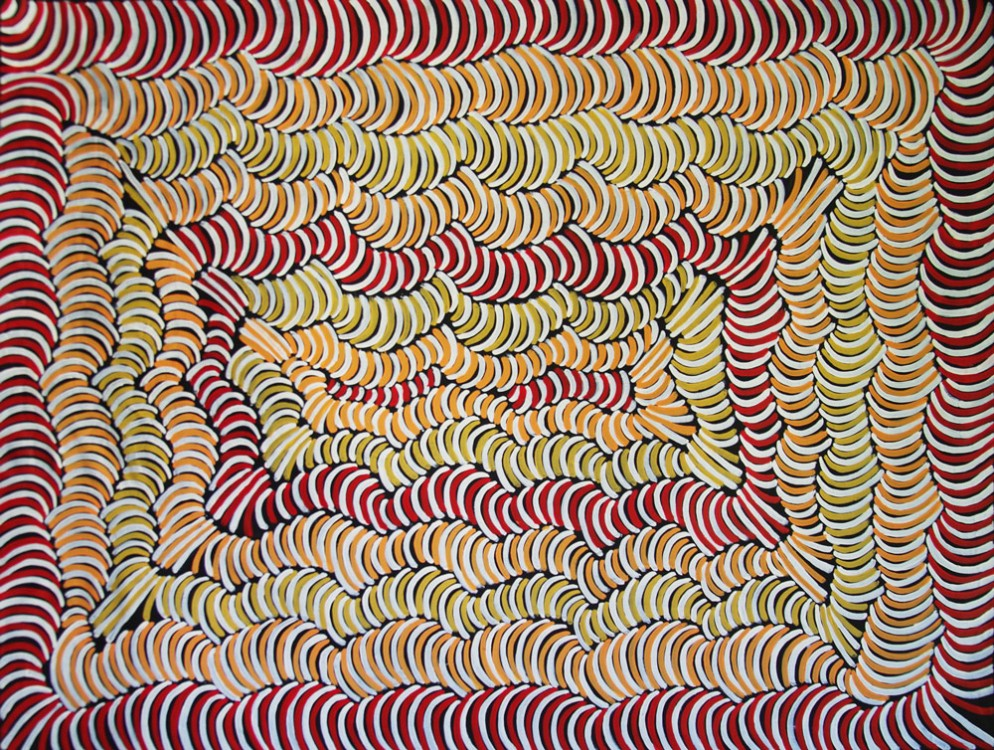 Violet Petyarre Awelye Australian Aboriginal Art Painting on canvas VP1752