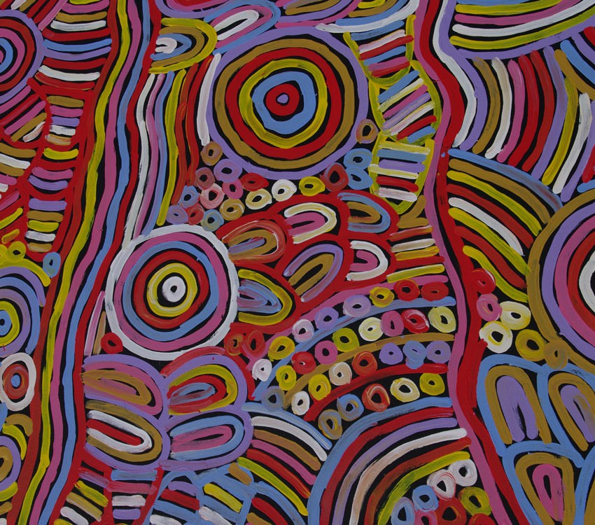 Aboriginal Art Painting on canvas by Betty Mbitjana Awelye and Bush Melon BM1936