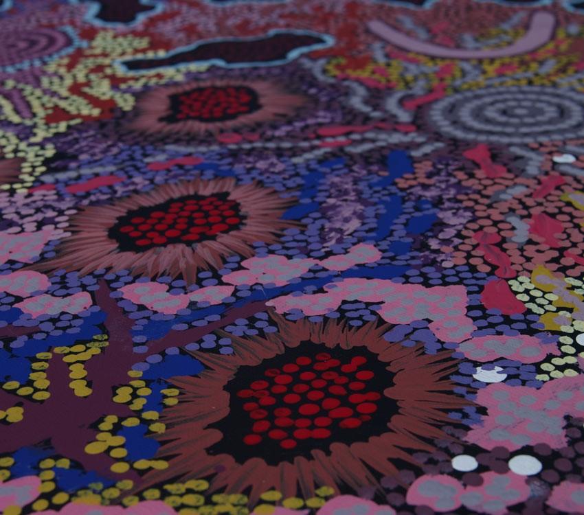 Aboriginal Artwork on canvas by Gabriella Possum Nungurrayi My Grandmother's Country GP1892