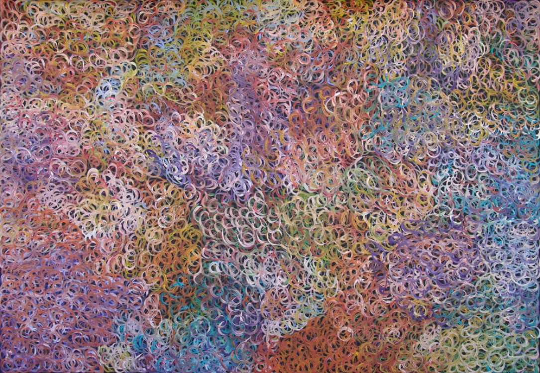 Gloria Petyarre Bush Medicine Leaves Australian Aboriginal Art Painting on canvas GP1886