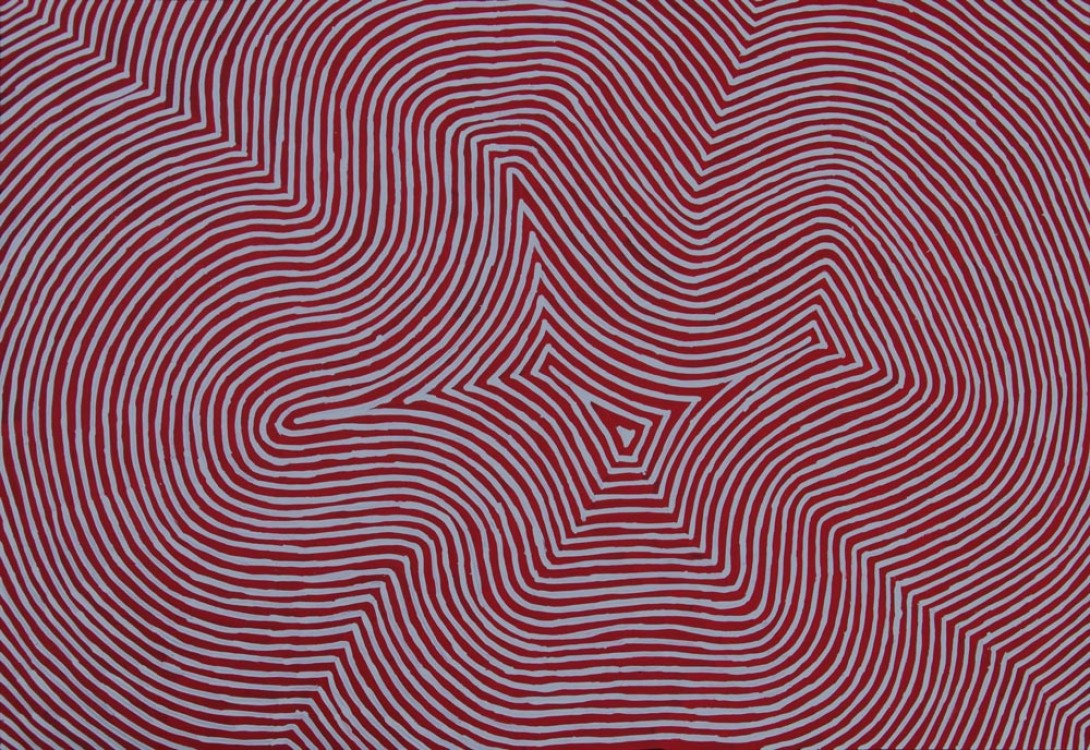 Jake Tjapaltjarri Tingari Cycle Australian Aboriginal Art Painting on canvas JT1924