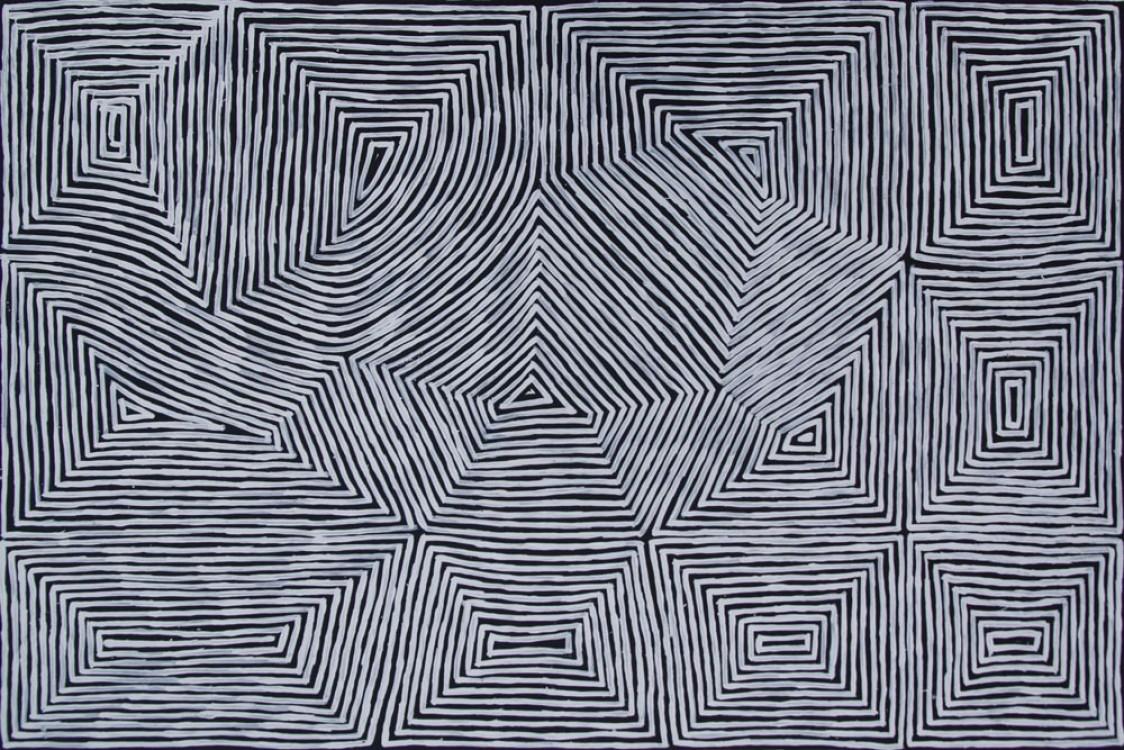 Jake Tjapaltjarri Tingari Cycle Australian Aboriginal Art Painting on canvas JT1926