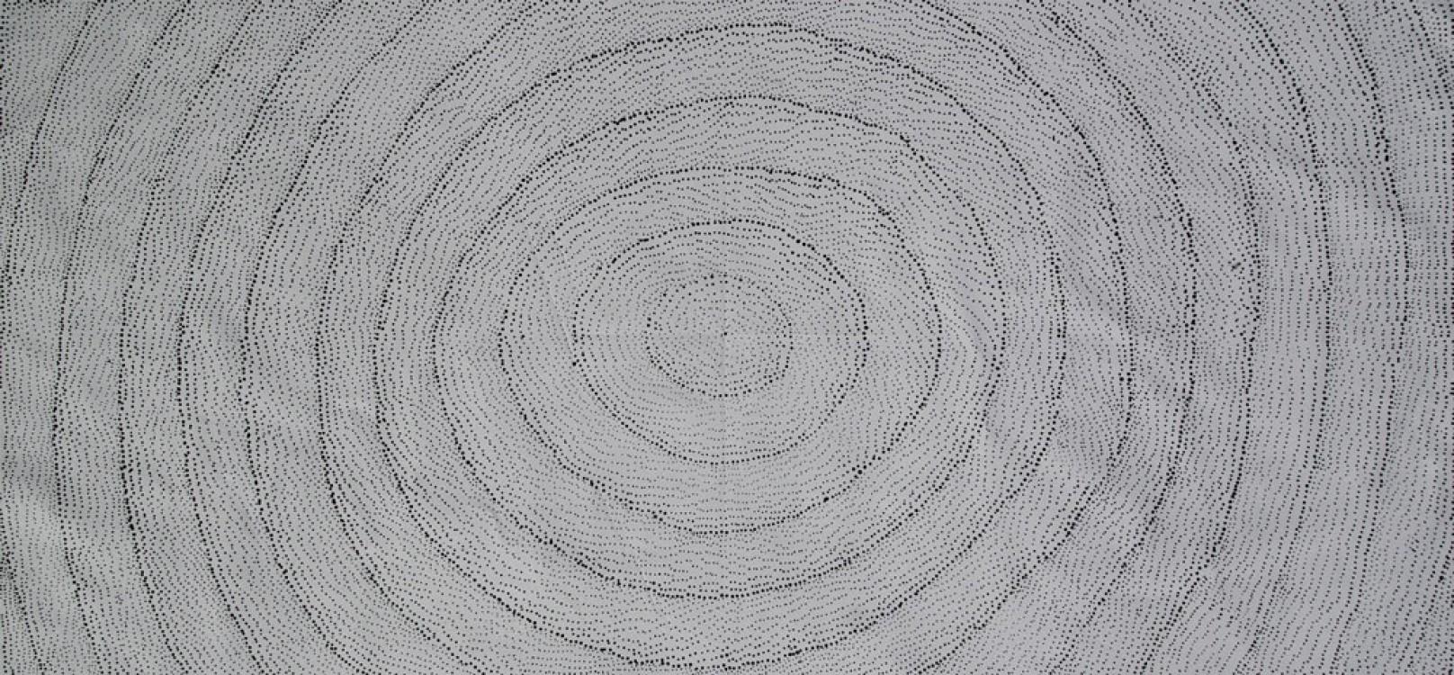 Lily Kelly Napangardi Rock Holes Australian Aboriginal Art Painting on canvas LK1900