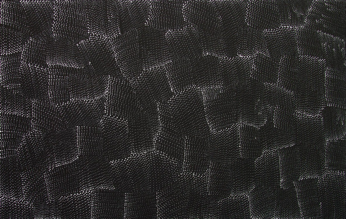 Lily Kelly Napangardi Tali Sand Hills Australian Aboriginal Art Painting on canvas LK1896