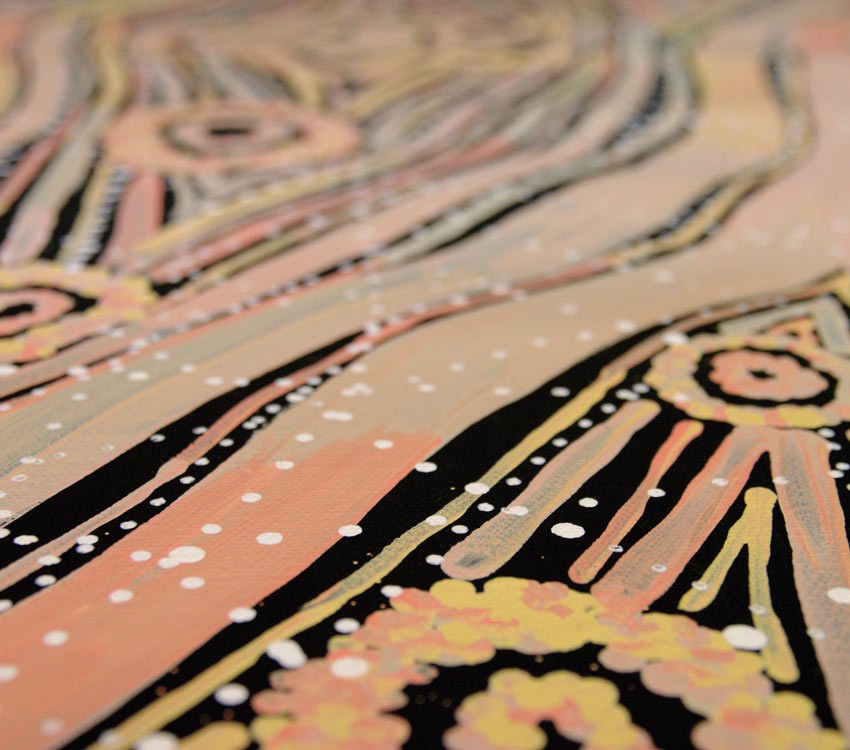 Aboriginal Artwork on canvas by Margaret Lewis Napangardi Tali Sand Hills ML1878