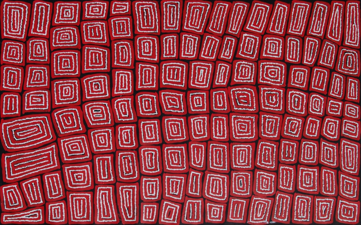 Thomas Tjapaltjarri Tingari Cycle Australian Aboriginal Art Painting on canvas TT1928