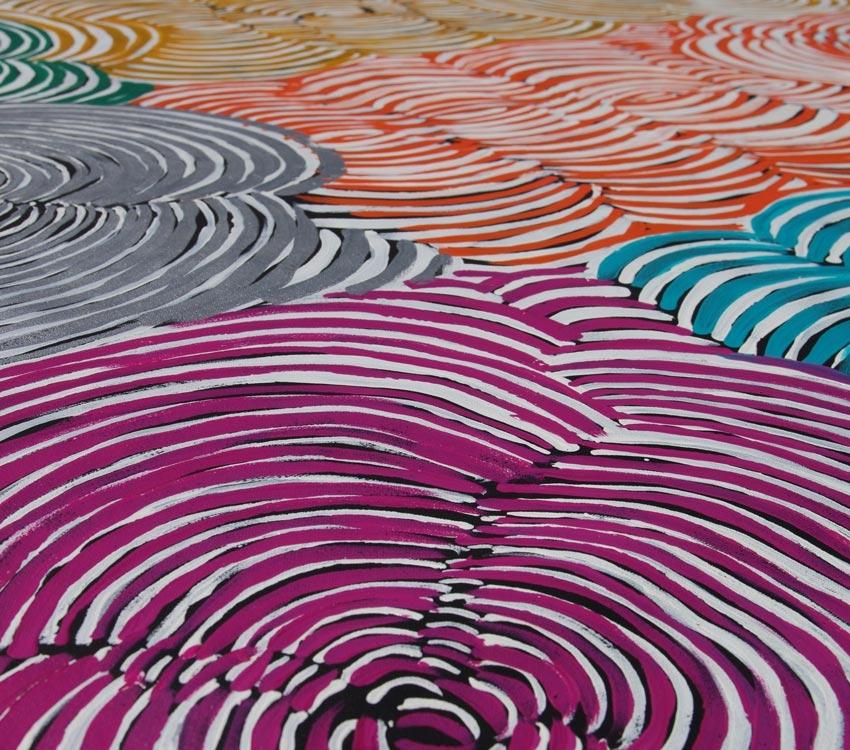 Aboriginal Artwork on canvas by Ruby Daniels Nungala Women's Rock holes RD1941