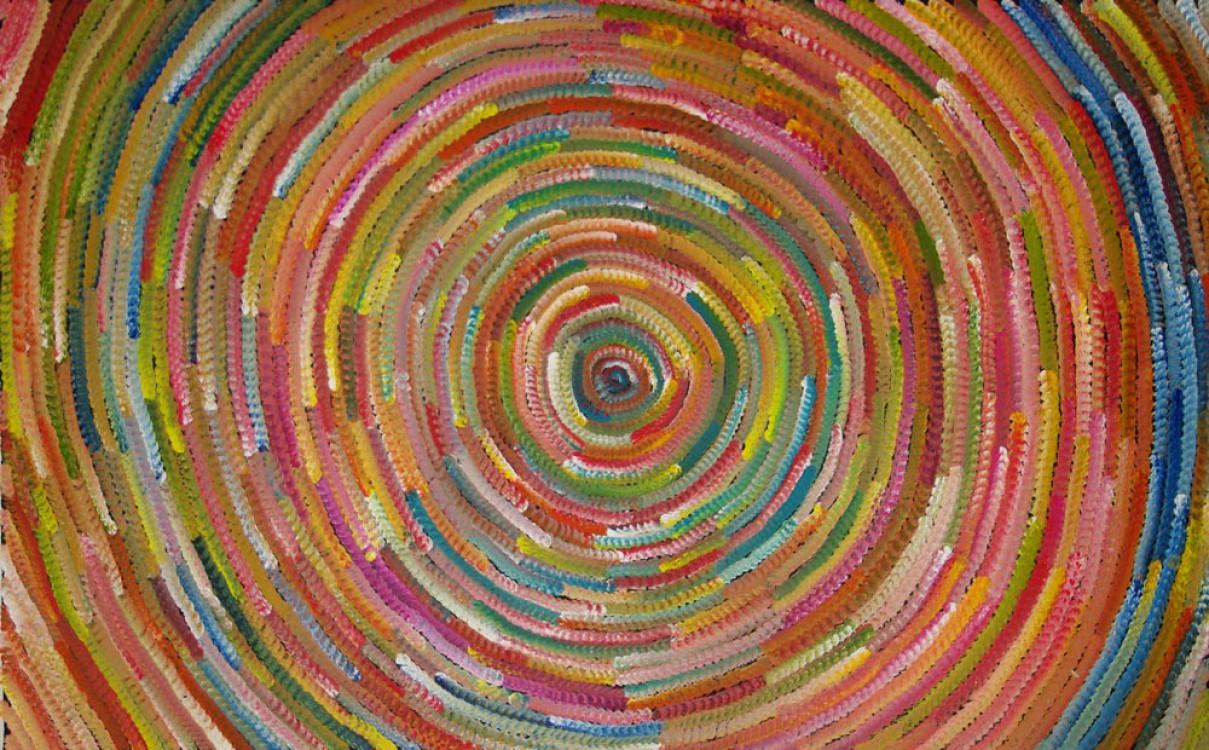 Bernadine Johnson Kamara Bush Medicine Leaves Australian Aboriginal Art Painting on canvas BJ1649