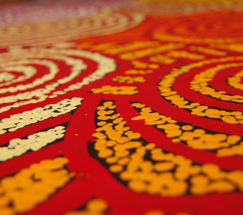 Aboriginal Artwork on canvas by Debra Young Nakamarra Rock Holes DY1686