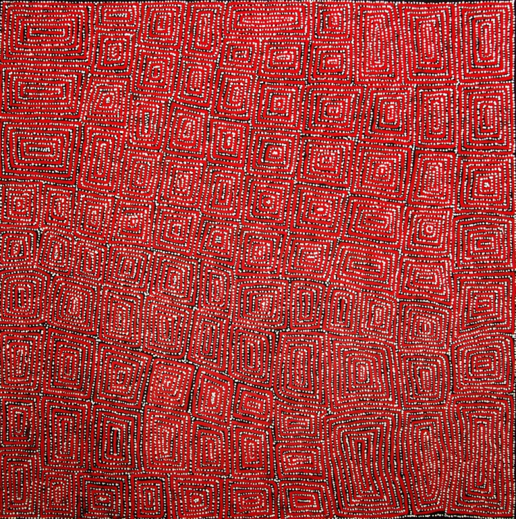 George Ward Tjungurrayi Tingari Cycle Australian Aboriginal Art Painting on canvas GW1673