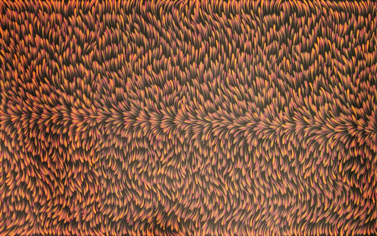 Gloria Petyarre Bush Medicine Leaves Australian Aboriginal Art Painting on canvas GP1706