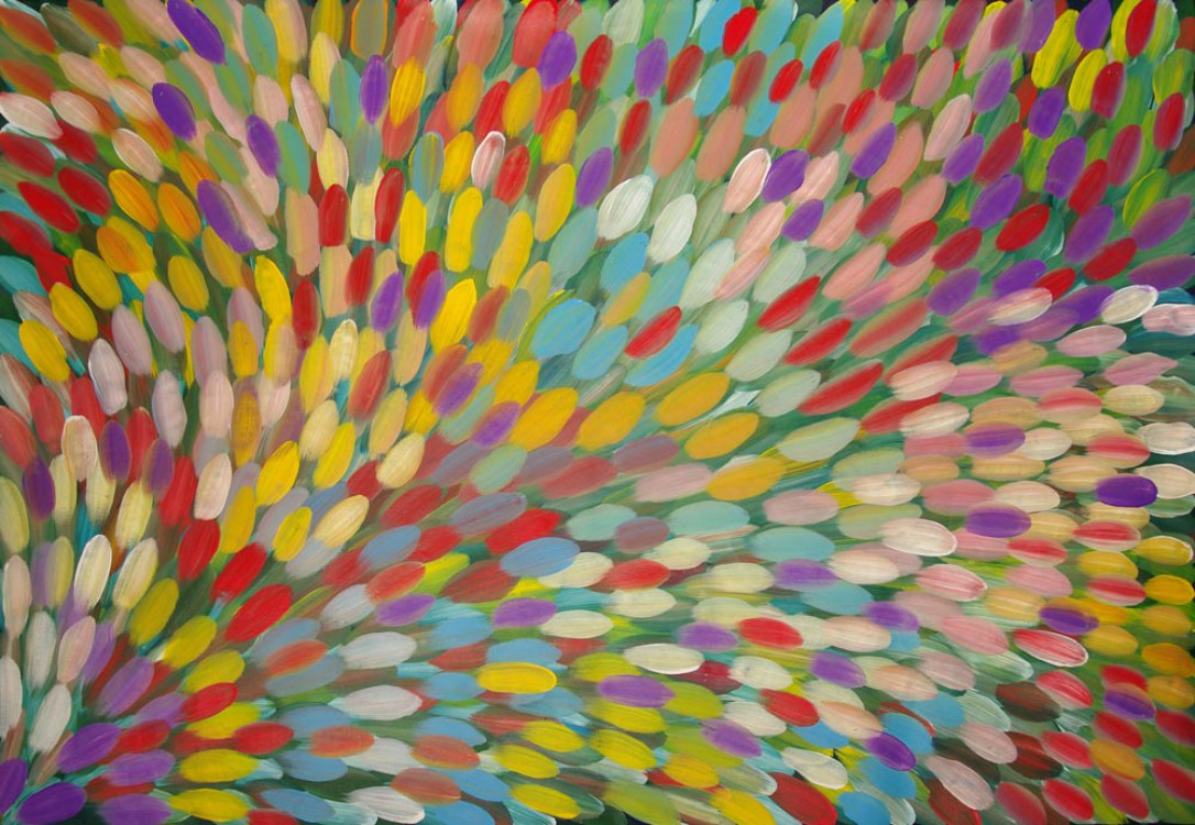 Gloria Petyarre Bush Medicine Leaves Australian Aboriginal Art Painting on canvas GP1638