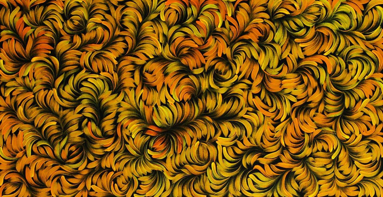 Jacinta Hayes Bush Medicine Leaves Australian Aboriginal Art Painting on canvas JH1637