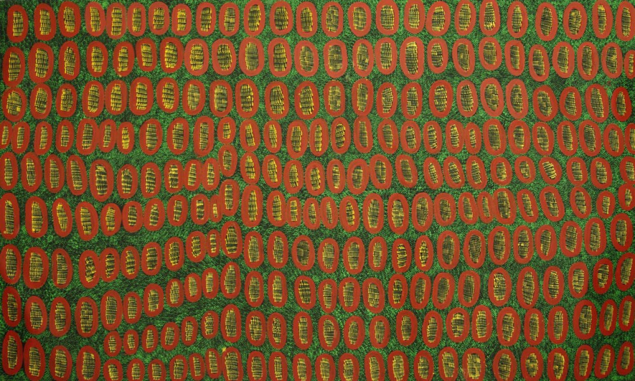 Ngoia Pollard Napaltjarri Father's Country Australian Aboriginal Art Painting on canvas NP1659