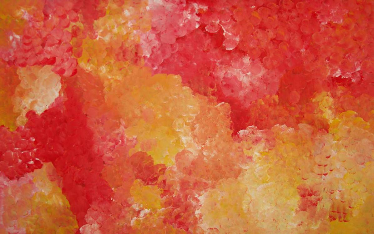 Polly Ngale Bush Plum Dreaming Australian Aboriginal Art Painting on canvas PN1643