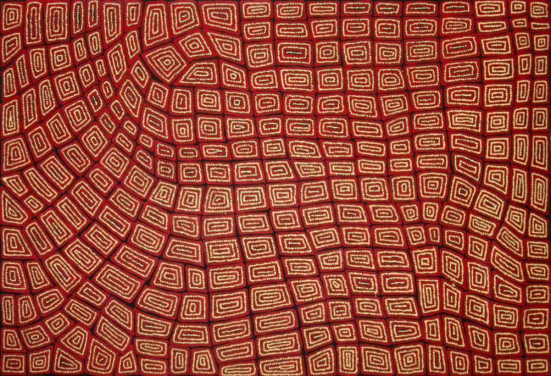 Thomas Tjapaltjarri Tingari Cycle Australian Aboriginal Art Painting on canvas TT1684
