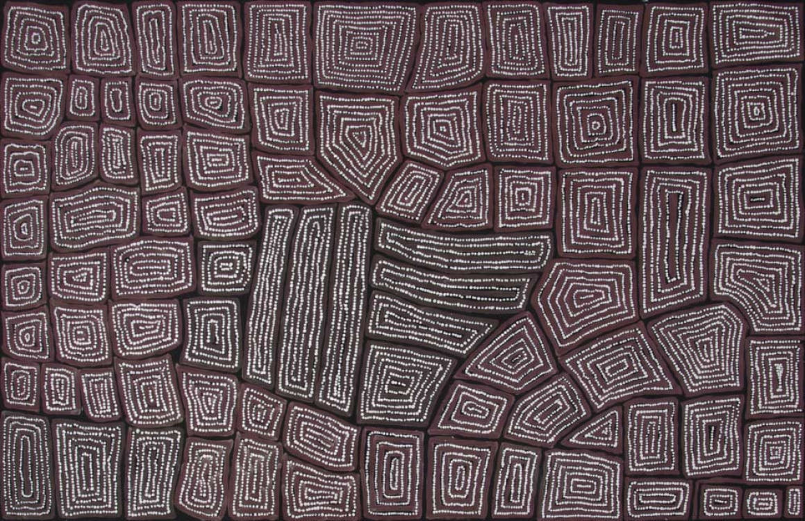 Thomas Tjapaltjarri Tingari Cycle Australian Aboriginal Art Painting on canvas TT1954