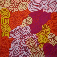 Debra Young Nakamarra Women's RockHoles Australian Aboriginal Art Painting on canvas DY1777