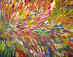 Gloria Petyarre Bush Medicine Leaves Australian Aboriginal Art Painting on canvas GP1791