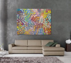 Bush Medicine Leaves Gloria Petyarre Australian Aboriginal Artwork on canvas GP1822