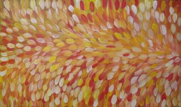 Gloria Petyarre Bush Medicine Leaves Australian Aboriginal Art Painting on canvas GP1853