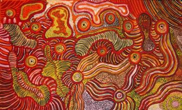 Patricia Baker Tunkin Minma Marlilu Tjukurrpa Australian Aboriginal Art Painting on canvas KB1746