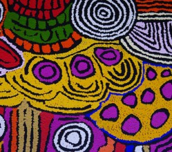 Aboriginal Art Painting on canvas by Maisie Campbell Napaltjarri Women's Ceremony MC1753